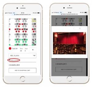 Screenshot - valg av seter med bilder